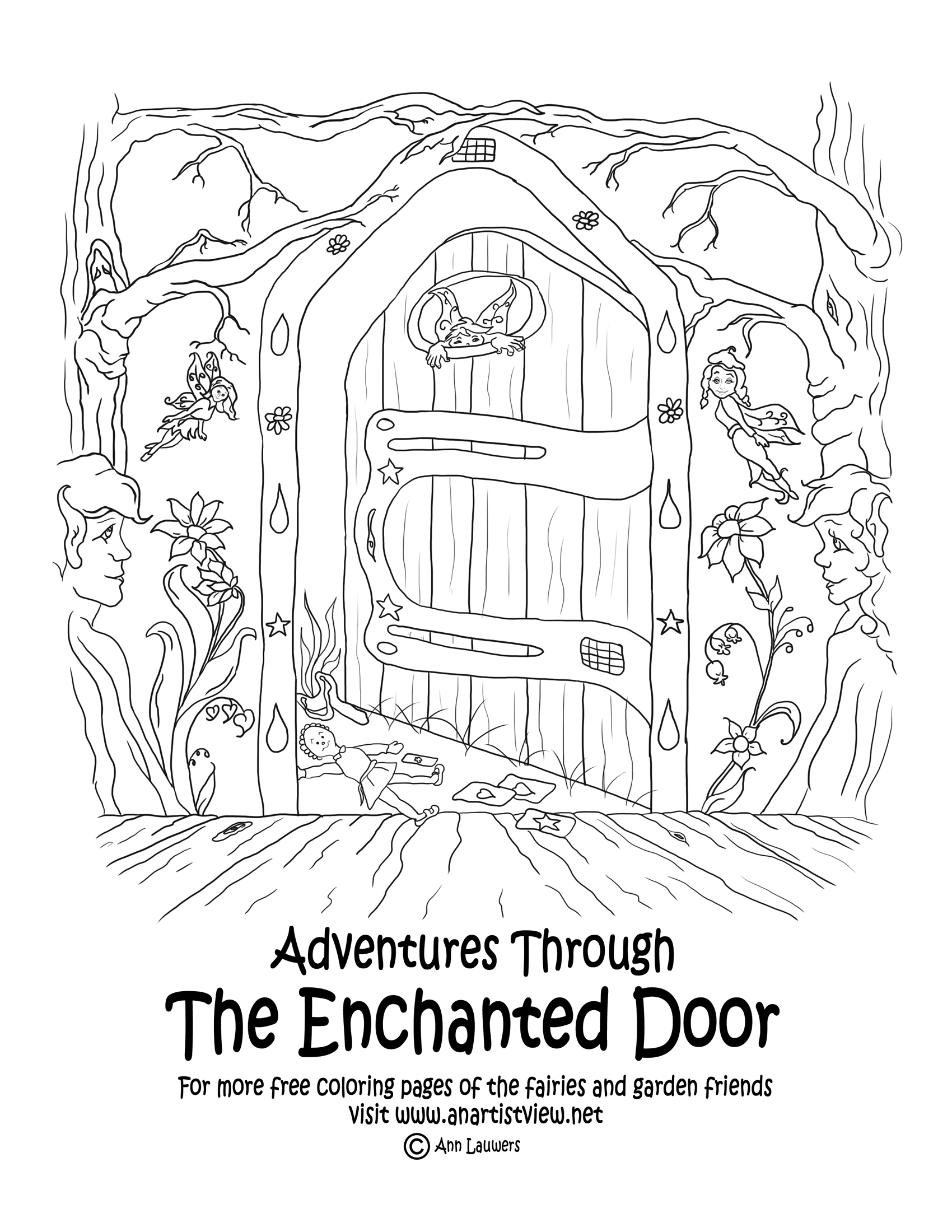 the enchanted forest coloring pages - photo #40